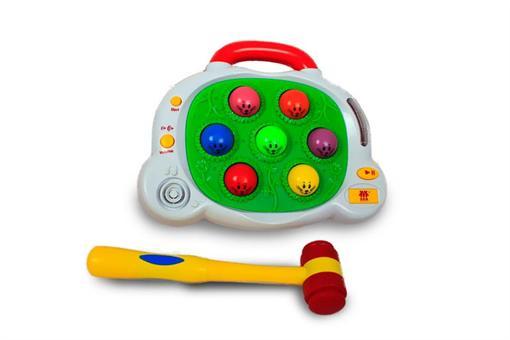 اسباب-بازی-گیم چکشی سبز و زرد هوش کودک