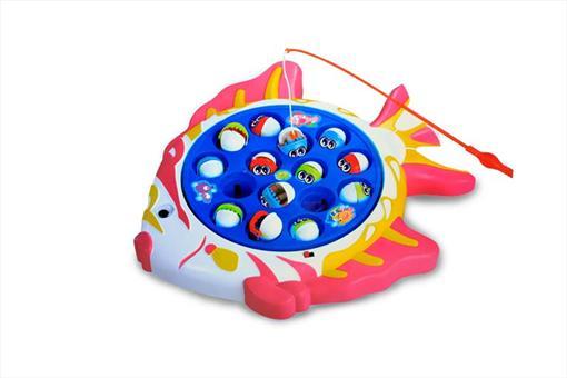 اسباب-بازی-ماهیگیری موزیکال  15 تایی طرح ماهی