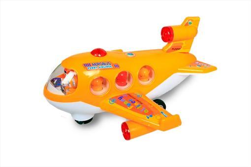 اسباب-بازی-هواپیمای مسافربری باتری خور و موزیکال بزرگ