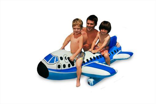 اسباب-بازی-هواپیمای بادی آبی بزرگ اینتکس