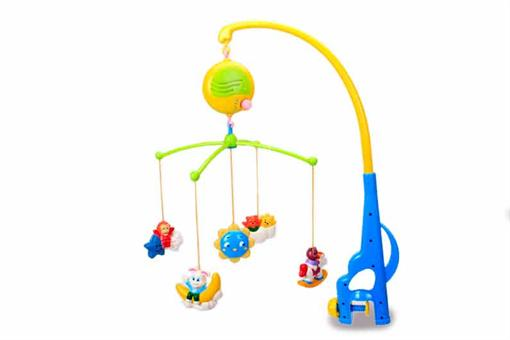 اسباب-بازی-آویز تخت موزیکال حیوانات نشسته
