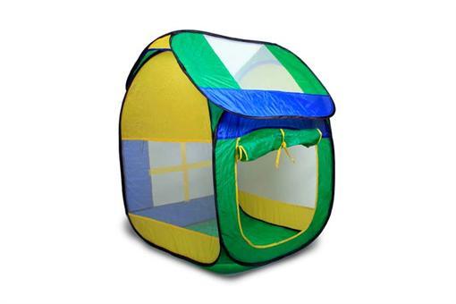 اسباب-بازی-چادر فنری سبز و زرد