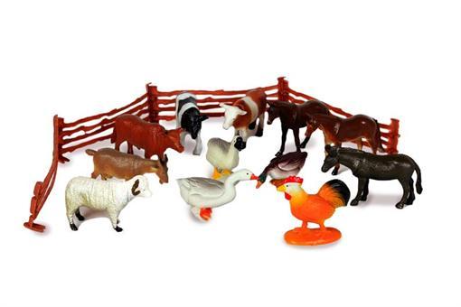 اسباب-بازی-ماکت حیوانات مزرعه 12 عددی
