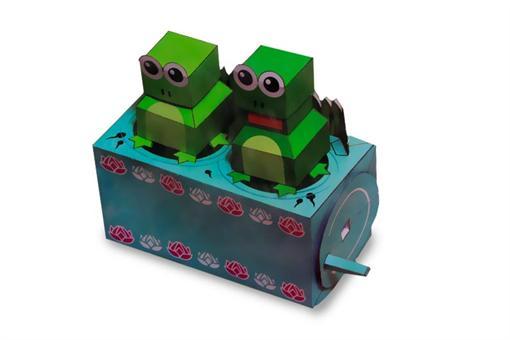 اسباب-بازی-قورباغه های شیطون مقوایی