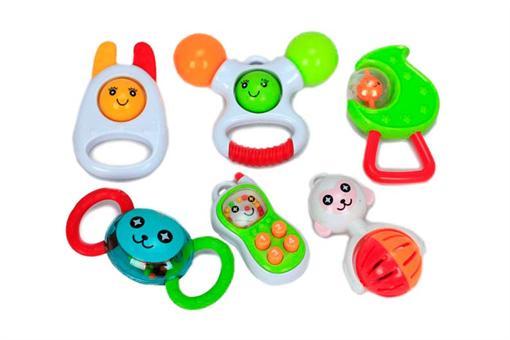 اسباب-بازی-ست جغجغه جعبه ای شش تکه
