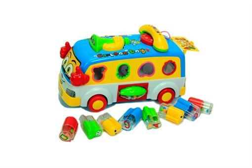 اسباب-بازی-اتوبوس مدرسه لگویی موزیکال و چراغ دار