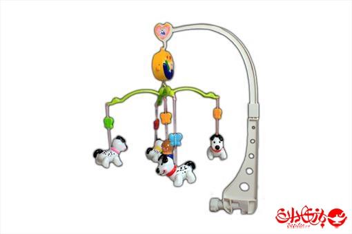 اسباب-بازی-آویز تخت موزیکال طرح سگ خالدار