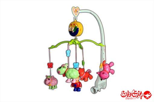 اسباب-بازی-آویز تخت موزیکال طرح حیوانات پسرانه