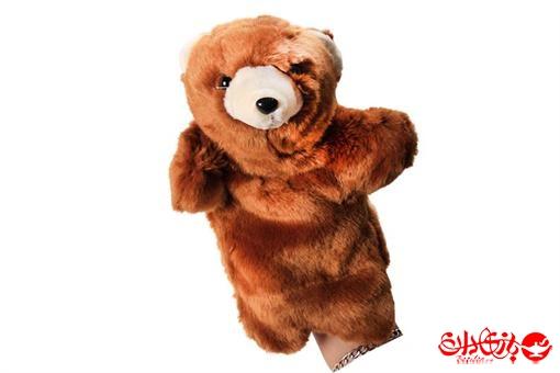 اسباب-بازی-عروسک های پولیشی نمایشی طرح خرس قهوه ای