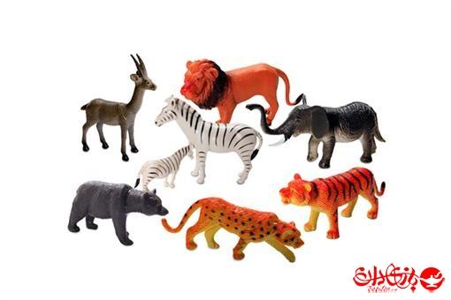 اسباب-بازی-ست حیوانات وحشی 8 تکه