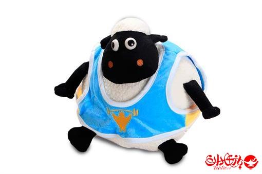 اسباب-بازی-عروسک پولیشی خارجی گوسفند شان شیپ لباس دار