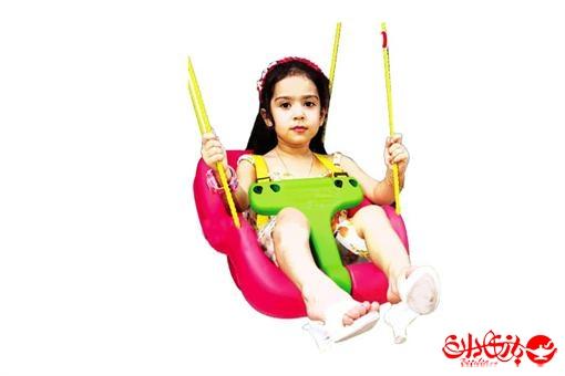 اسباب-بازی-تاب کودک بارفیکسی موزیکال و حفاظ دار ستاره