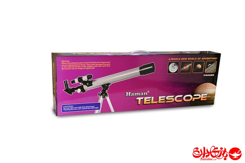 تصویر شماره 1  تلسکوپ نجومی جدید مدل600*50
