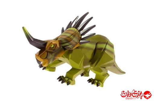 اسباب-بازی-دایناسور وکیوم مدل سبز شاخ دار