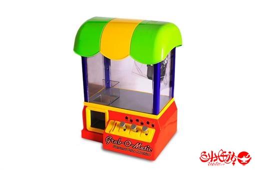 اسباب-بازی-دستگاه هدیه یاب ربات چنگکی موزیکال شهربازی مدل سایبان دار