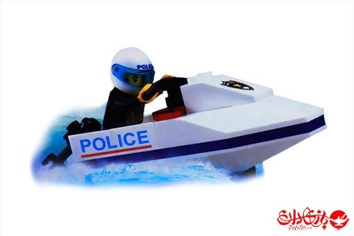 اسباب-بازی-لگو قایق موتوری پلیس دریایی 22 تکه
