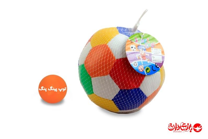 تصویر شماره 1  توپ توری نرم رنگی فوتبال بزرگ