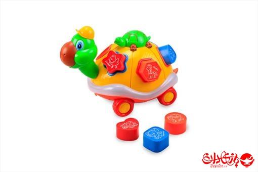 اسباب-بازی-لاک پشت لگویی رنگی موزیکال و چراغ دار