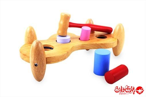 اسباب-بازی-بازی چوبی توپ و چکش