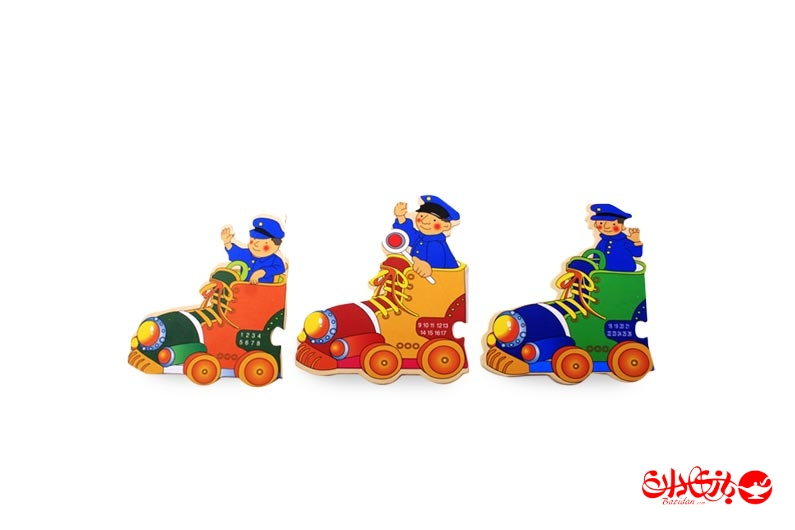 تصویر شماره 2  پازل قطار چوبی 29 تکه آموزشی کودک