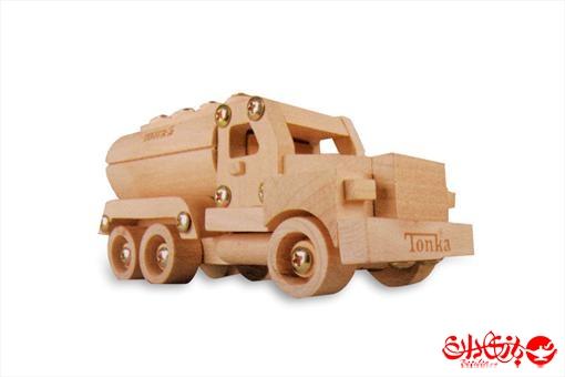 اسباب-بازی-سازه چوبی تونکا ٦ تکه طرح کامیون تانکر