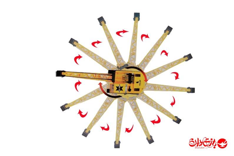تصویر شماره 4  جرثقیل رادیو کنترلی  8 کانال شارژی