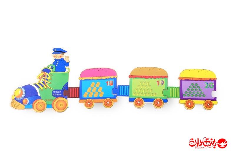 تصویر شماره 4  پازل قطار چوبی 29 تکه آموزشی کودک