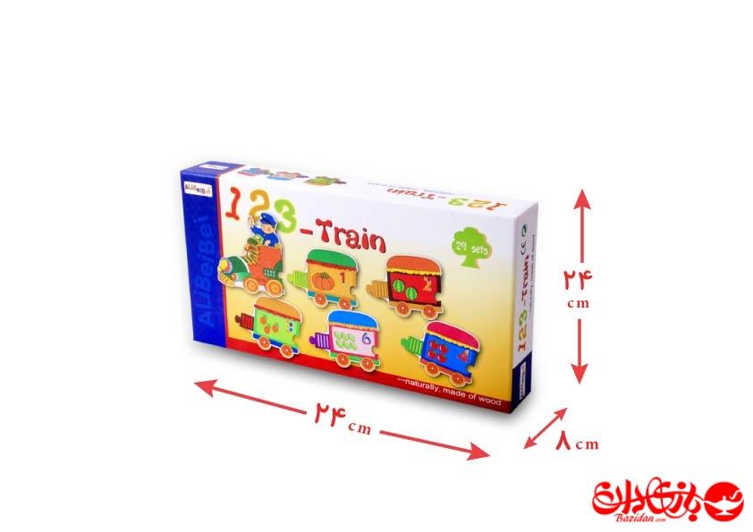 تصویر شماره 1  پازل قطار چوبی 29 تکه آموزشی کودک