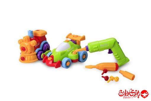 اسباب-بازی-ماشین و قطار قدرتی پیچ و مهره ای مارک Build