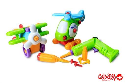اسباب-بازی-هلی کوپتر و هواپیما قدرتی پیچ و مهره ای مارک Build