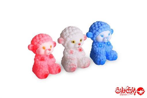 اسباب-بازی-ست بره های رنگی نرم سوتکی