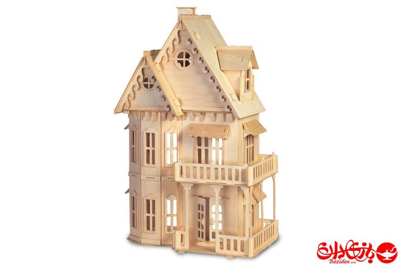 تصویر-شماره-1-جورچین-و-ماکت-چوبی-3-بعدی-خانه-گوتیک-10-لایه-بزرگ