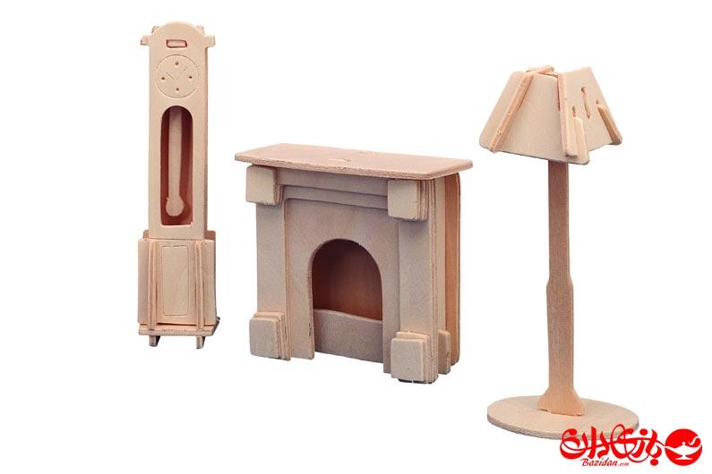 تصویر-شماره-1-جورچین-و-ماکت-چوبی-3-بعدی-ست-ساعت-،-چراغ-و-شومینه-چوبی-2-لایه-کوچک