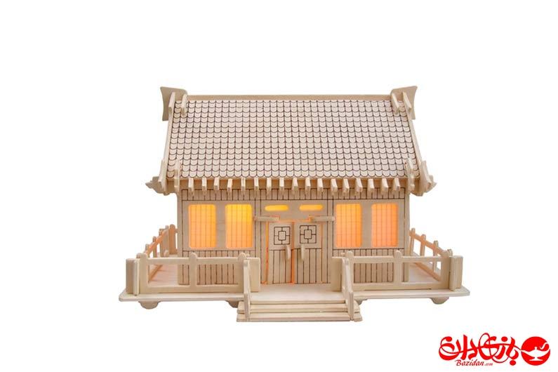 تصویر-شماره-1-جورچین-و-ماکت-چوبی-3-بعدی-خانه-ژاپنی-سبک-B-سه-لایه