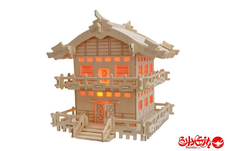 تصویر-شماره-1-جورچین-و-ماکت-چوبی-3-بعدی-خانه-ژاپنی-سبک-E-سه-لایه