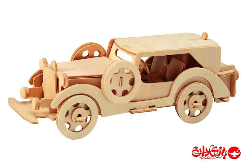 تصویر-شماره-1-جورچین-و-ماکت-چوبی-3-بعدی-ماشین--فورد-مدل-V8-دو-لایه