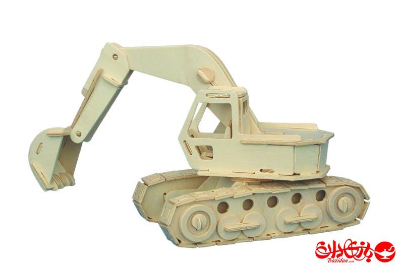 تصویر-شماره-1-جورچین-و-ماکت-چوبی-3-بعدی-ماشین-حفرکننده-2.5-لایه