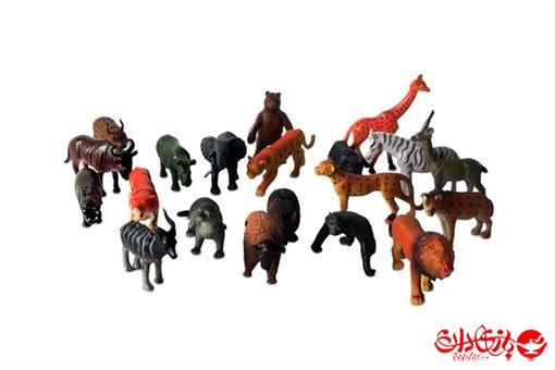 اسباب-بازی-ست حیوانات وحشی 20 تکه با سفره طرح طبیعت