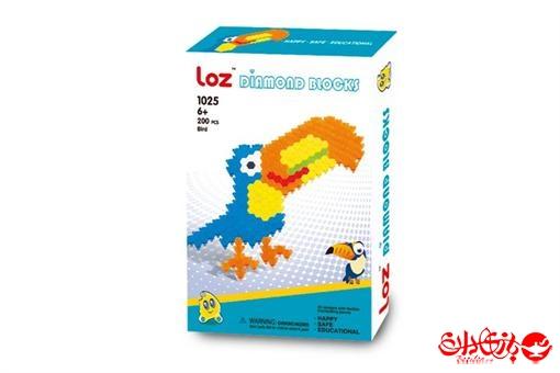 اسباب-بازی-پازل بلوک انعطاف پذیر پرنده رنگارنگ 200 قطعه