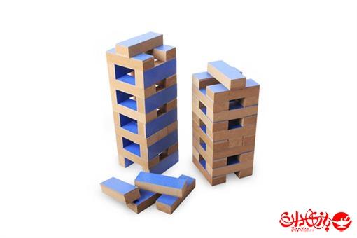 اسباب-بازی-برج چوبی هیجان جنگا ٤٨ عددی جعبه چوبی
