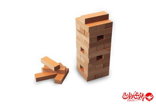 اسباب-بازی-برج هیجان چوبی جنگا 48 عددی جعبه مقوایی