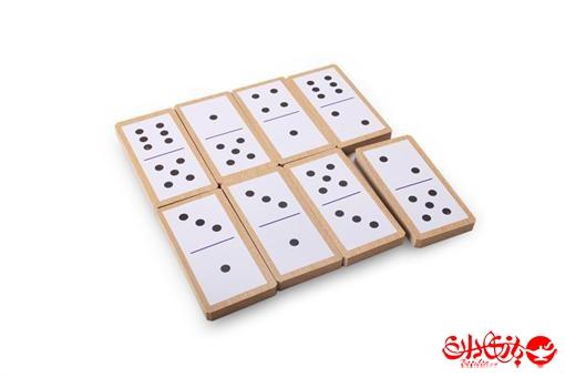 اسباب-بازی-دومینو کلاسیک 32 عددی جعبه چوبی