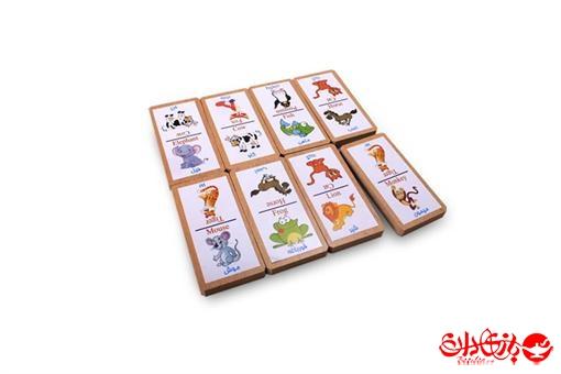 اسباب-بازی-دومینو حیوانات 32 عددی جعبه چوبی
