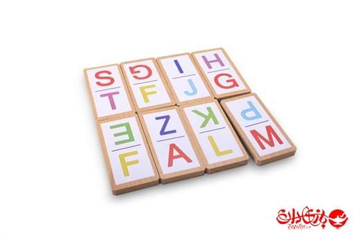 اسباب-بازی-دومینو حروف انگلیسی 32 عددی جعبه چوبی
