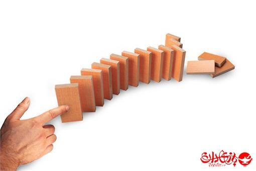 اسباب-بازی-دومینو چوبی ایستاده 100 عددی جعبه چوبی