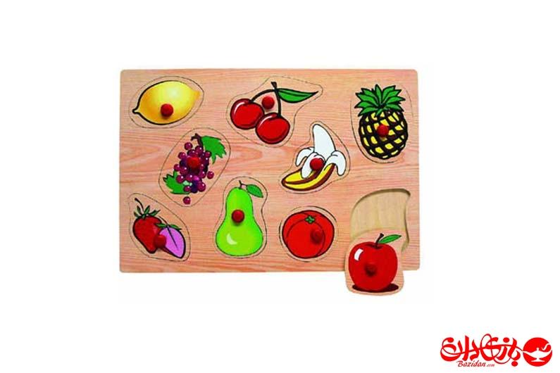 تصویر-شماره-1-پازل-جاگذاری-دکمه-دار-9-میوه