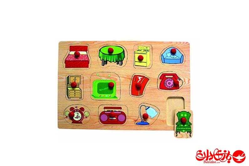 تصویر-شماره-1-پازل-جاگذاری-دکمه-دار-وسایل-خانه