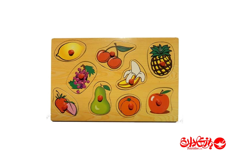 تصویر شماره 1  پازل جاگذاری دکمه دار 9 میوه