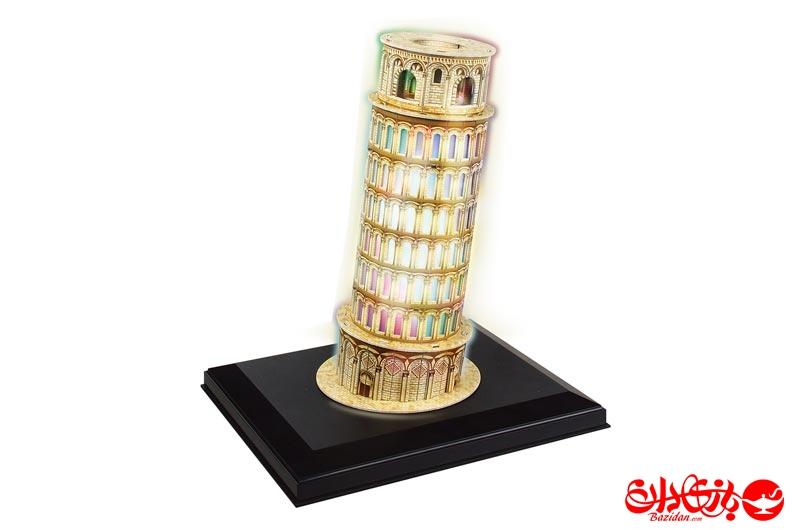 تصویر-شماره-1-پازل-سه-بعدی-فومی-برج-کج-پیزا-LEDدار--15-تکه