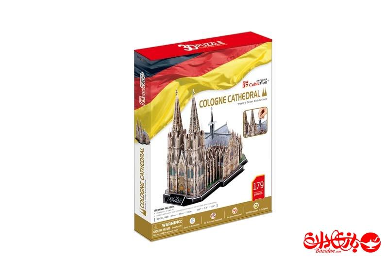 تصویر شماره 1  پازل سه بعدی فومی کلیسای جامع کلن آلمان 179 تکه